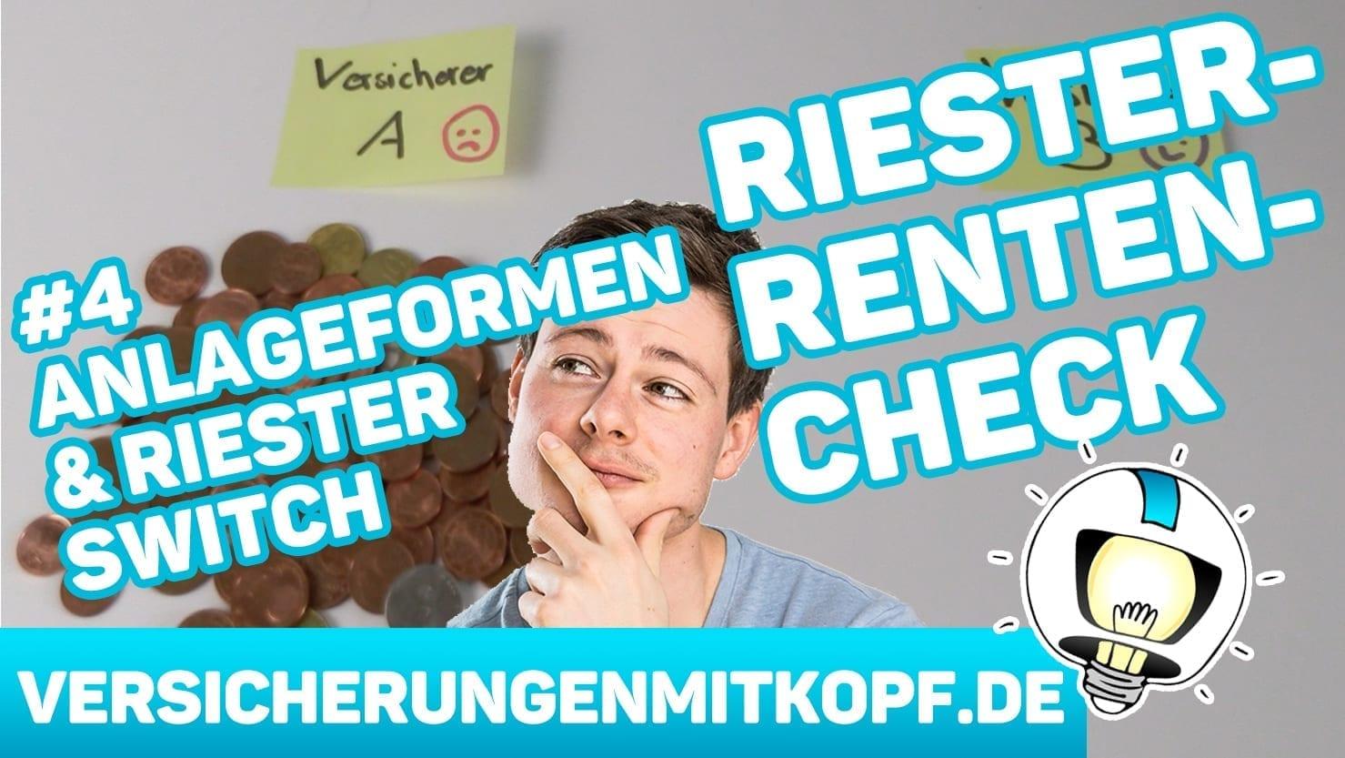 vmk thumbnail RR Teil4 ANLAGEFORMEN - Riester Renten Check Teil 4 – Anlageformen & Riester Switch