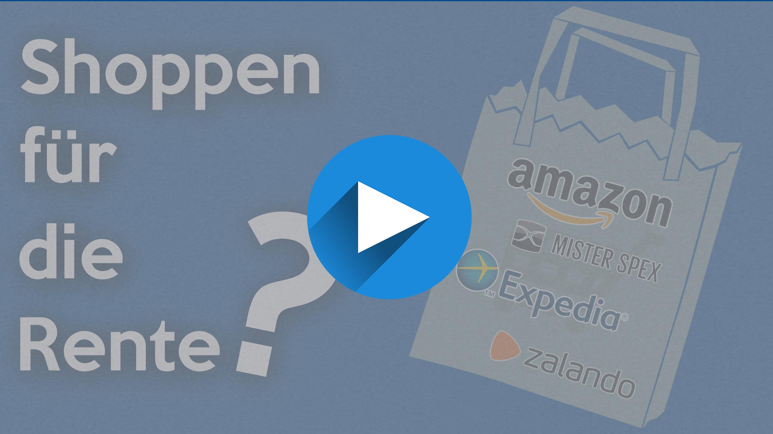 Video Cover Shoppen für die Rente 1 - Shoppen für die Rente