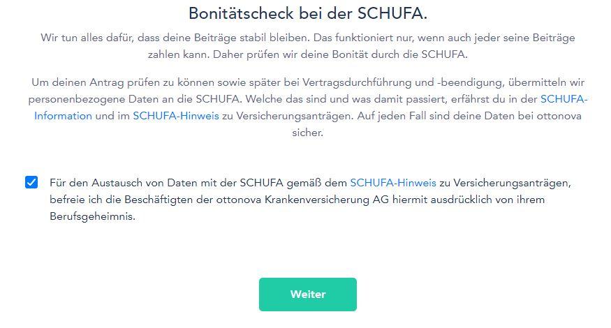 ottonova bonitaetscheck - Take out ottonova PKV online
