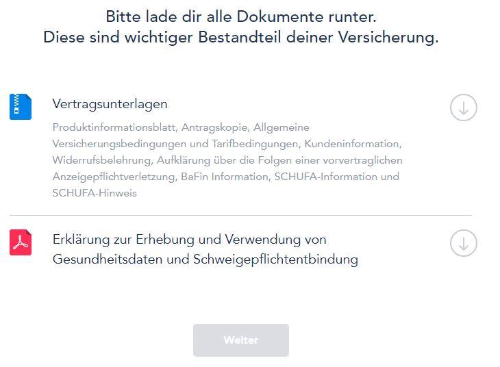 ottonova download vertragsdokumente - Take out ottonova PKV online