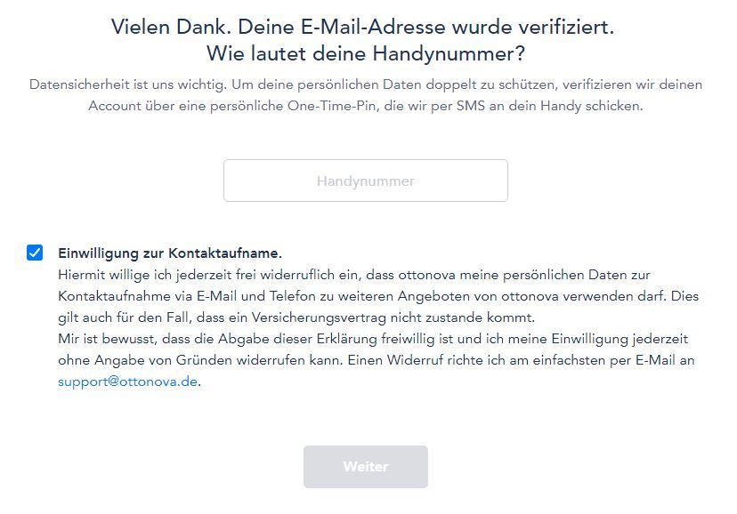 ottonova kontaktaufnahme handynummer - Take out ottonova PKV online