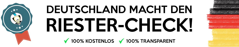 Banner RiesterCheck - Startseite
