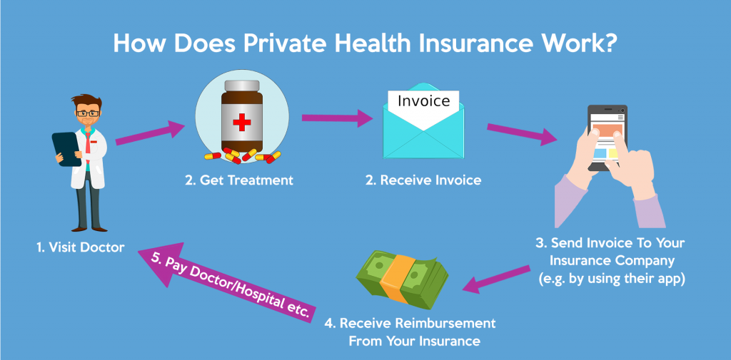 How does private health insurance work in Germany