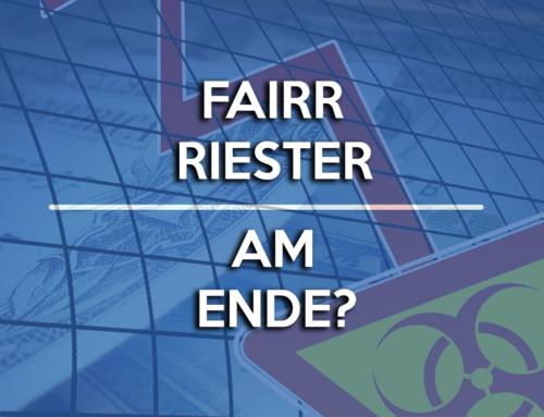Fairriester gescheitert? Kunden von Fairr Riester sind schockiert!