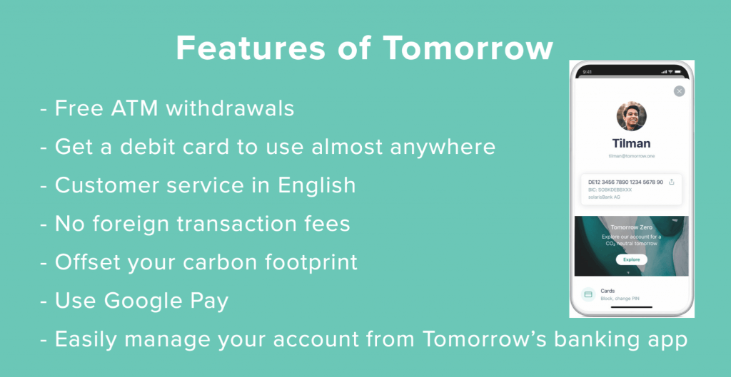 Tomorrow account features 1024x529 - TOMORROW Bank Account
