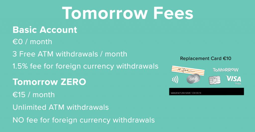 Tomorrow account fees 1024x532 - TOMORROW Bank Account