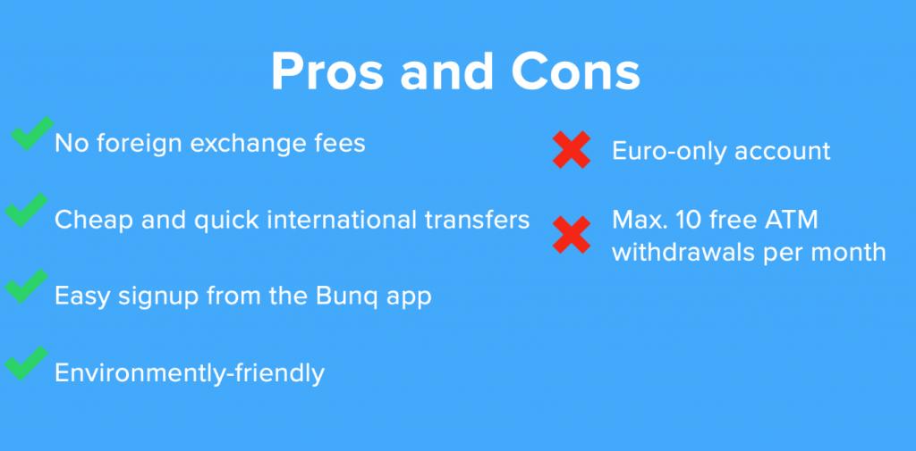 bunq account pros and cons 1024x505 - bunq bank account