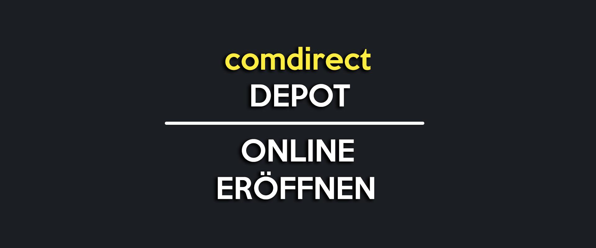 comdirect depot eröffnen online kostenlos