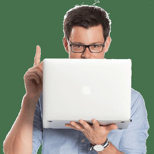 bastian mit laptop quadratisch - Kostenloser Vertrags-Check