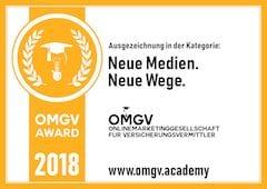OMGV Award 2018 Neue Wege Neue Medien - Versicherungen mit Kopf